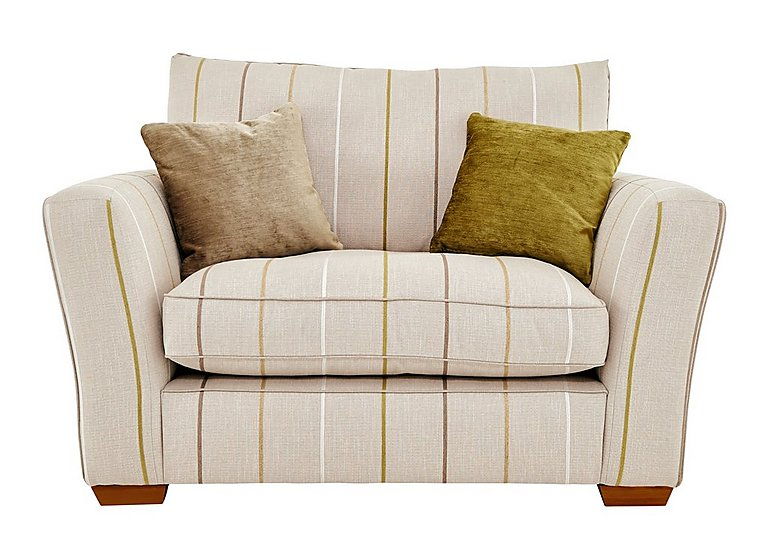 Otto Fabric Love Seat in Selba Citrine Dark Feet Col 3 on Furniture Village