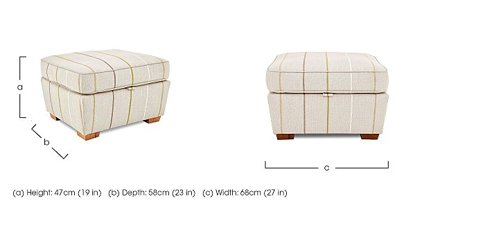 Otto Fabric Storage Footstool in  on FV