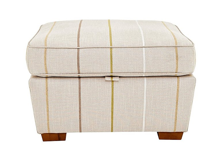 Otto Fabric Storage Footstool in Selba Citrine Dark Feet Col 3 on FV