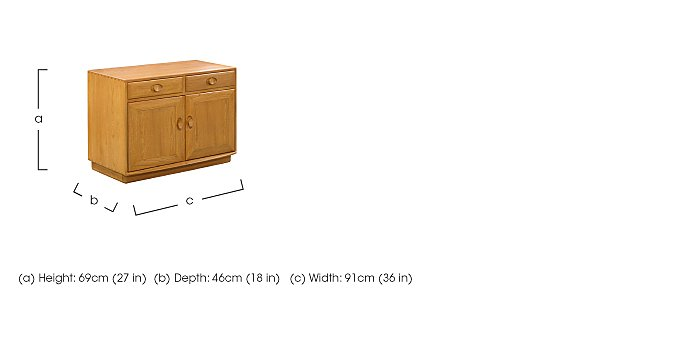 Windsor Wide Cabinet with Drawers in  on FV