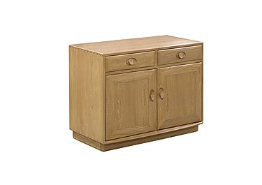 Windsor Wide Cabinet with Drawers in Straw Finish (St) on FV