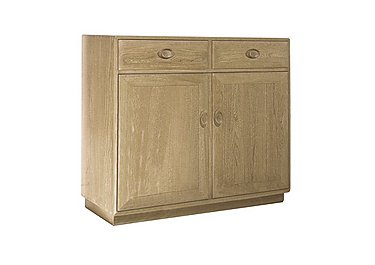Windsor Two Door High Sideboard in Straw Finish (St) on Furniture Village