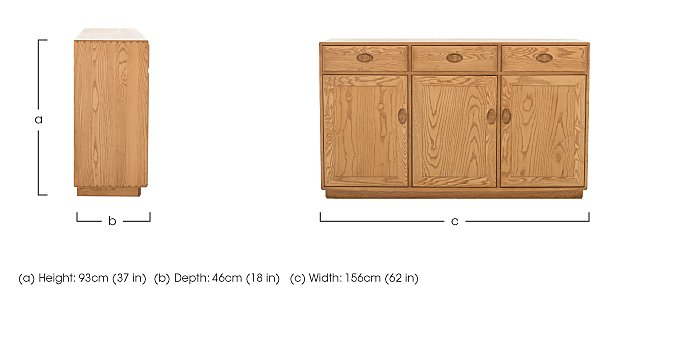 Windsor 3 Door High Sideboard in  on Furniture Village