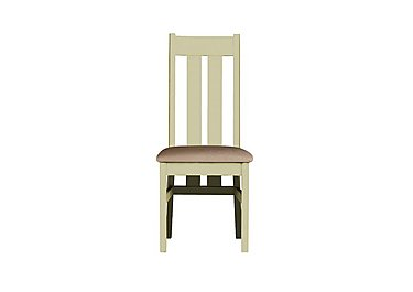 Bordeaux Painted Oak Dining Chair in Neutral Plain Fabric on FV