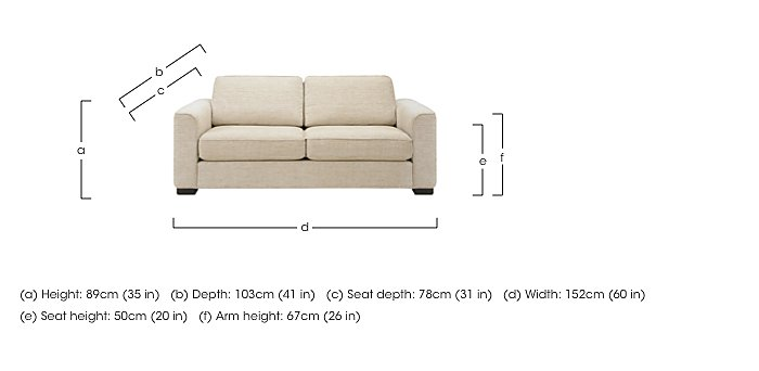 Eleanor 2 Seater Fabric Sofa in  on FV