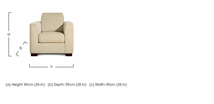Eleanor Fabric Armchair in  on FV