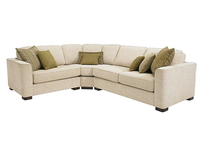 Eleanor Fabric Corner Sofa in Kento Crema - Bf on FV