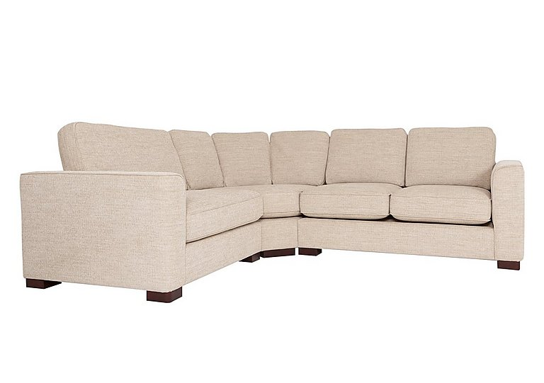 Eleanor Fabric Corner Sofa in Kento Cream - Bf on FV