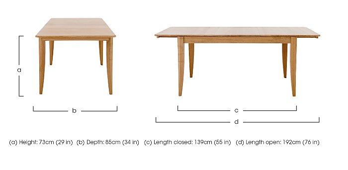 Artisan Medium Extending Dining Table in  on FV