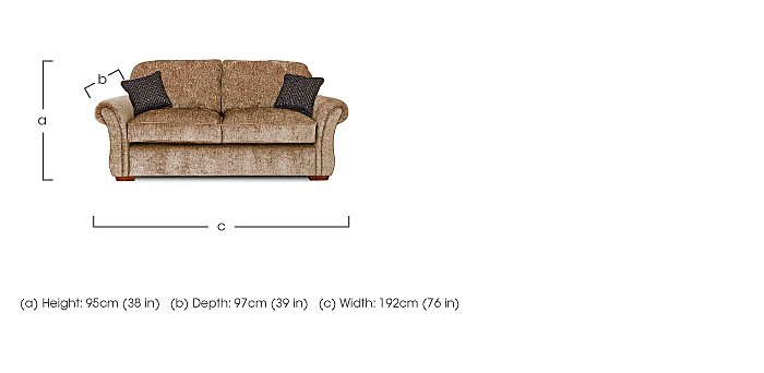 Luxor 2 Seater Fabric Sofa in  on FV