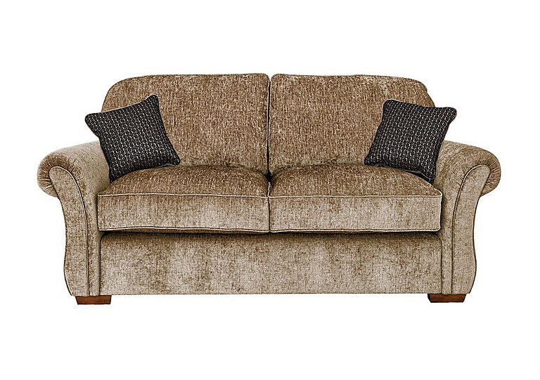Luxor 2 Seater Fabric Sofa in Elite Mink - Dark Feet on FV