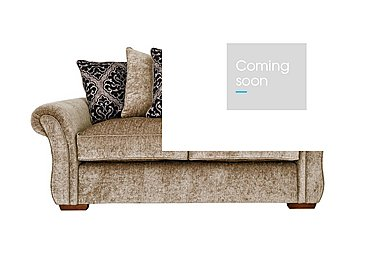 Luxor 2 Seater Fabric Sofa in Elite Mink - Dark Feet on FV