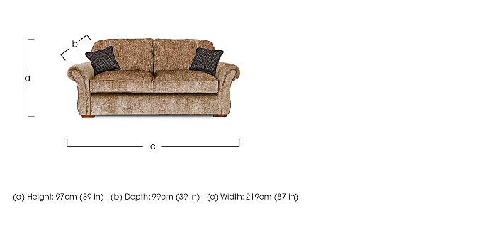 Luxor 3 Seater Fabric Sofa in  on FV