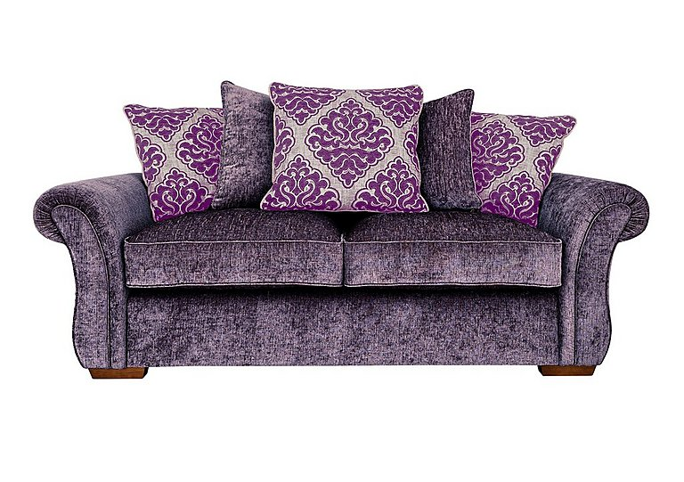 Luxor 3 Seater Fabric Pillow Back Sofa