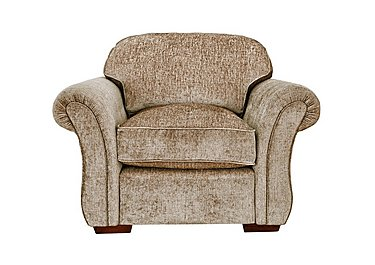 Luxor Fabric Armchair in Elite Mink - Dark Feet on FV