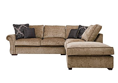Luxor Fabric Corner Sofa in Elite Mink - Dark Feet on FV