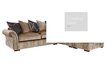 Luxor Fabric Corner Sofa in Elite Mink - Dark Feet on FV