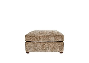 Luxor Fabric Footstool in Elite Mink - Dark Feet on FV