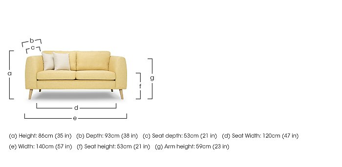 Bjorn 2 Seater Fabric Sofa in  on FV