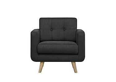 Oskar Fabric Armchair in Vence998 Anthracite on Furniture Village