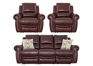 Arizona 3 Seater Sofa & 2 Recliner Armchairs in Go-182e Sequoia on FV