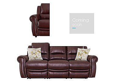 Arizona 3 & 2 Seater Leather Sofas in Go-182e Sequoia on FV