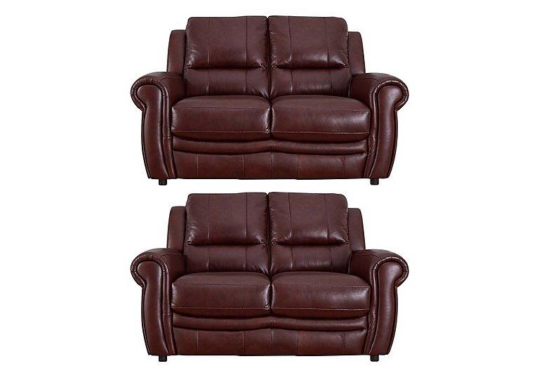 Arizona Pair of 2 Seater Leather Sofas
