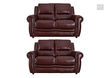 Arizona Pair of 2 Seater Leather Sofas  in {$variationvalue}  on FV