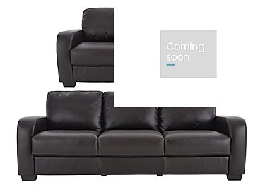 Astor 3 & 2 Seater Leather Sofas in Go-174e Mahogany on FV