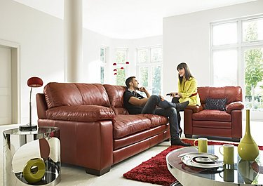 Carolina 3 & 2 Seater Leather Sofas in  on FV