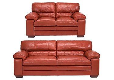 Carolina 3 & 2 Seater Leather Sofas