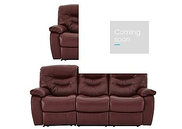 Relax Station Cozy Leather 3 & 2 Seater Power Recliner Sofas in Nc035c Deep Red on FV