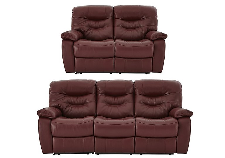 Relax Station Cozy Leather 3 & 2 Seater Power Recliner Sofas