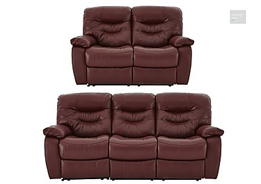 Relax Station Cozy Leather 3 & 2 Seater Power Recliner Sofas  in {$variationvalue}  on FV