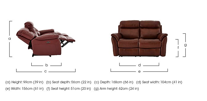 Relax Station Cozy Pair of 2 Seater Leather Power Recliner Sofas in  on FV