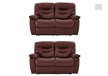 Relax Station Cozy Pair of 2 Seater Leather Power Recliner Sofas  in {$variationvalue}  on FV