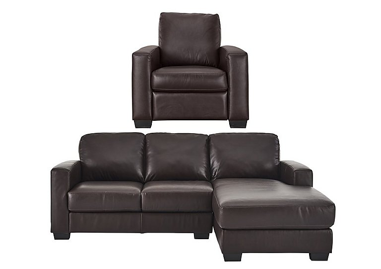 Furniture Village Dante dante 3 seater right hand chaise & armchair - furniture village