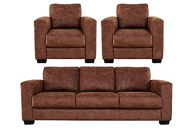 Dante 3 Seater Fabric Sofa & 2 Armchairs