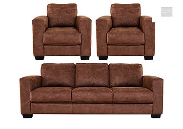 Dante 3 Seater Fabric Sofa & 2 Armchairs  in {$variationvalue}  on FV