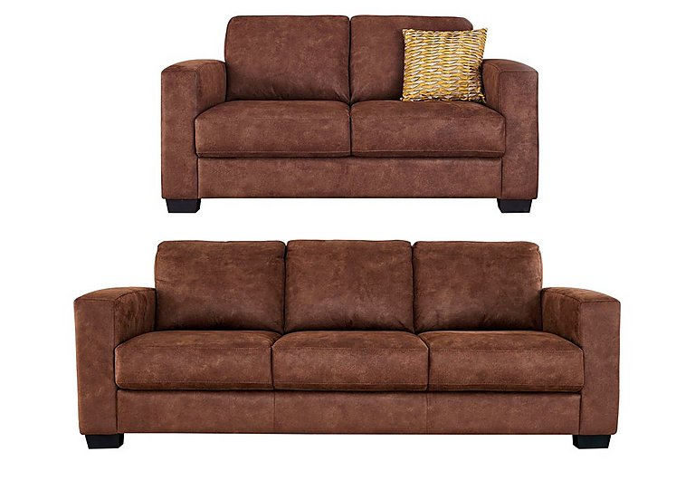 Dante 3 & 2 Seater Fabric Sofas in Bfa-Bllj05 Hazelnut on FV