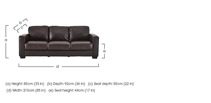 Dante 3 Leather Seater Sofa & 2 Armchairs in  on FV