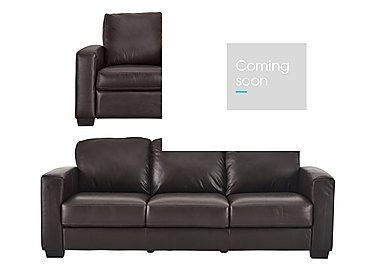 Dante 3 Leather Seater Sofa & 2 Armchairs in Jc-157e Warm Brown on FV