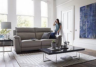 Glider Leather 3 Seater Sofa & Power Recliner Armchair in  on FV