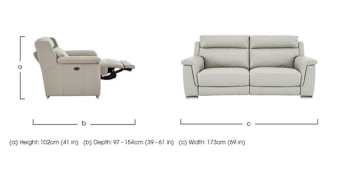 Glider 3 & 2 Seater Leather Power Recliner Sofas in  on FV