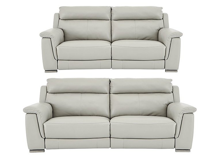 Glider 3 2 seater leather power recliner sofas for Leather sofa 7 seater