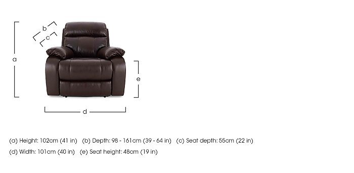 Moreno 3 Seater Leather Power Recliner Sofa & Armchair in  on FV