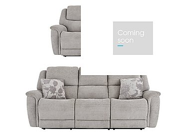 Sheridan 3 & 2 Seater Manual Fabric Recliner Sofas in 5th Avenue Nickel Plain 40526 on FV