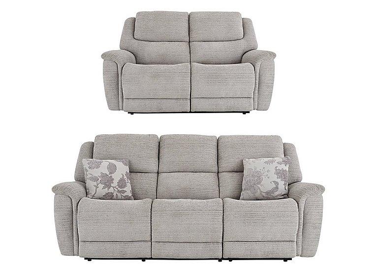 Sheridan 3 & 2 Seater Manual Fabric Recliner Sofas