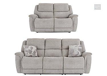 Sheridan 3 & 2 Seater Manual Fabric Recliner Sofas  in {$variationvalue}  on FV