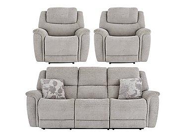 Sheridan 3 Seater Fabric Manual Recliner Sofa & 2 Armchairs